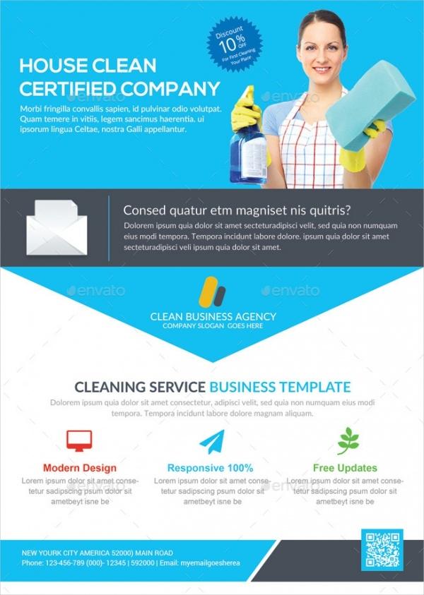 Cleaning Service Flyer Designs  Psd Vector Eps Jpg Download