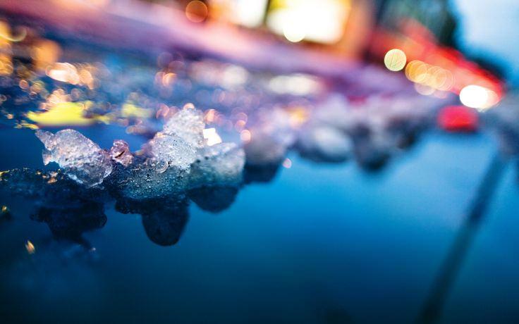 Ice Snow Melting Blurred Wallpaper