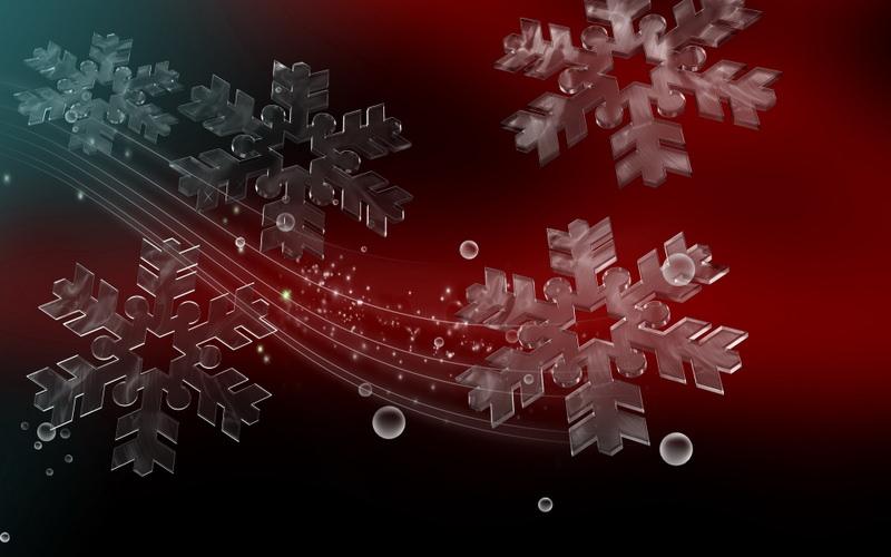 Ice Snowflakes Background