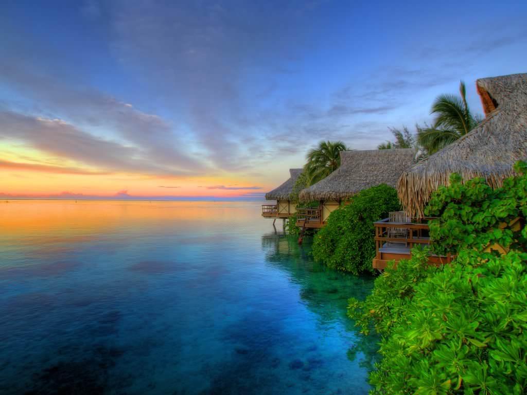 Island Sunset Wallpaper