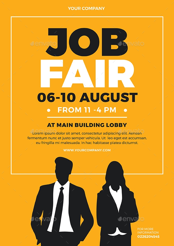 Job Fair Event Flyer Template Design