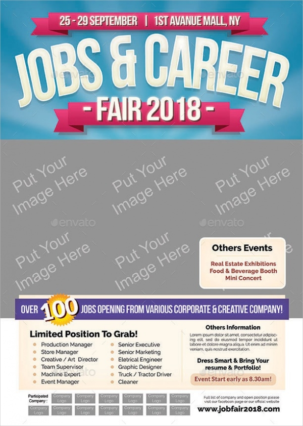 Jobs Career Fair Flyer