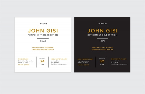 John Gisi Retirement Event Invite
