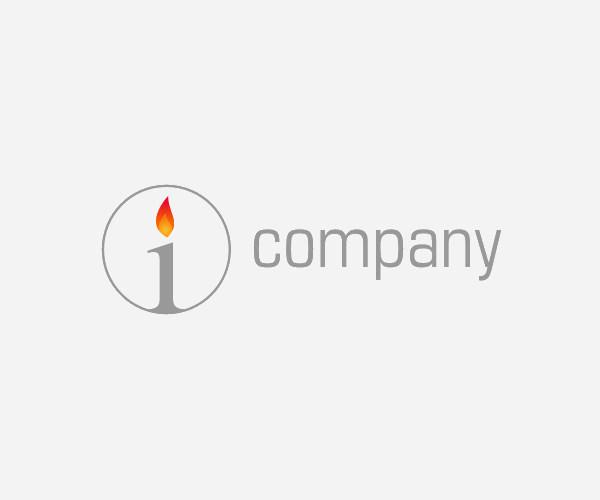 Letter I Candle Logo