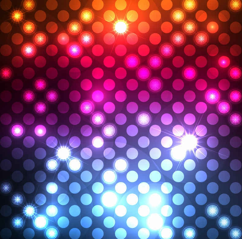 Light Dots Background Vector Graphic