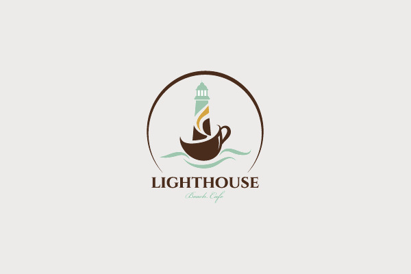 Lighthouse Cafe Logo Design