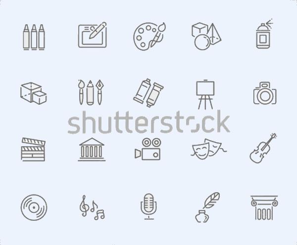 Line Art Icon Set