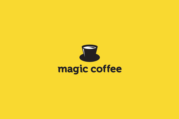 Magic Coffee Cup Logo Design