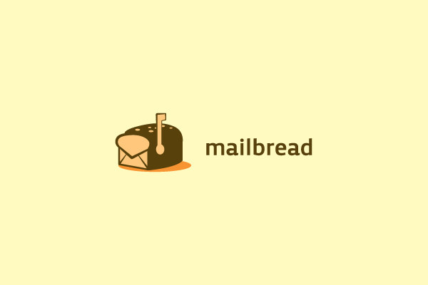 Mail Bread Logo For Internet & Web