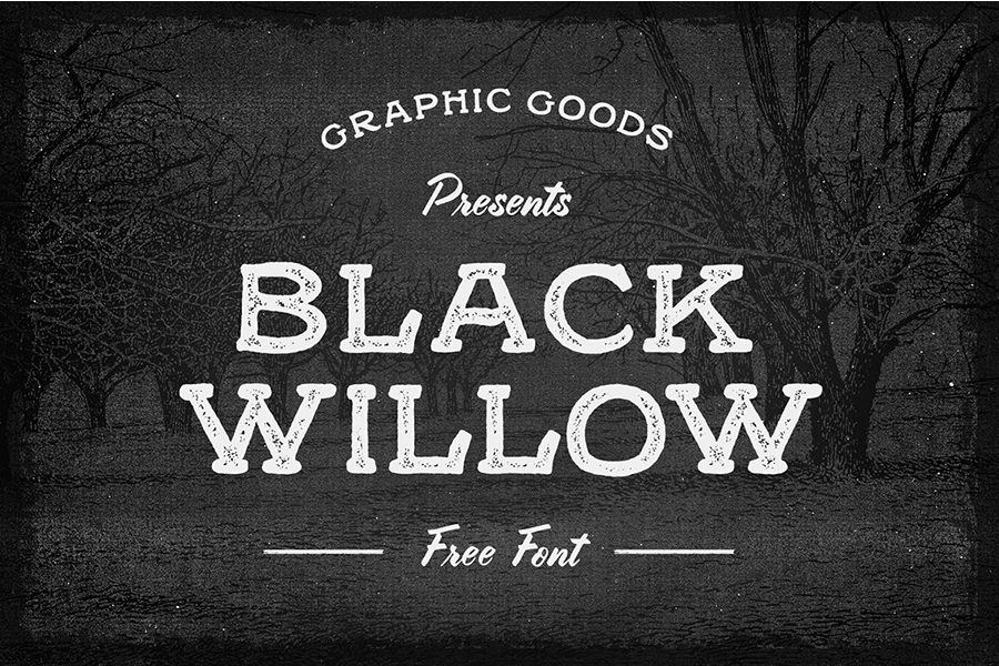 Marvellous Black Willow Font
