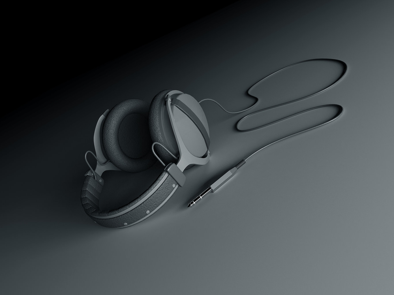 Matte Headphones Wallpaper