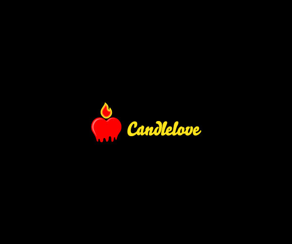 Melting Red Candle Logo