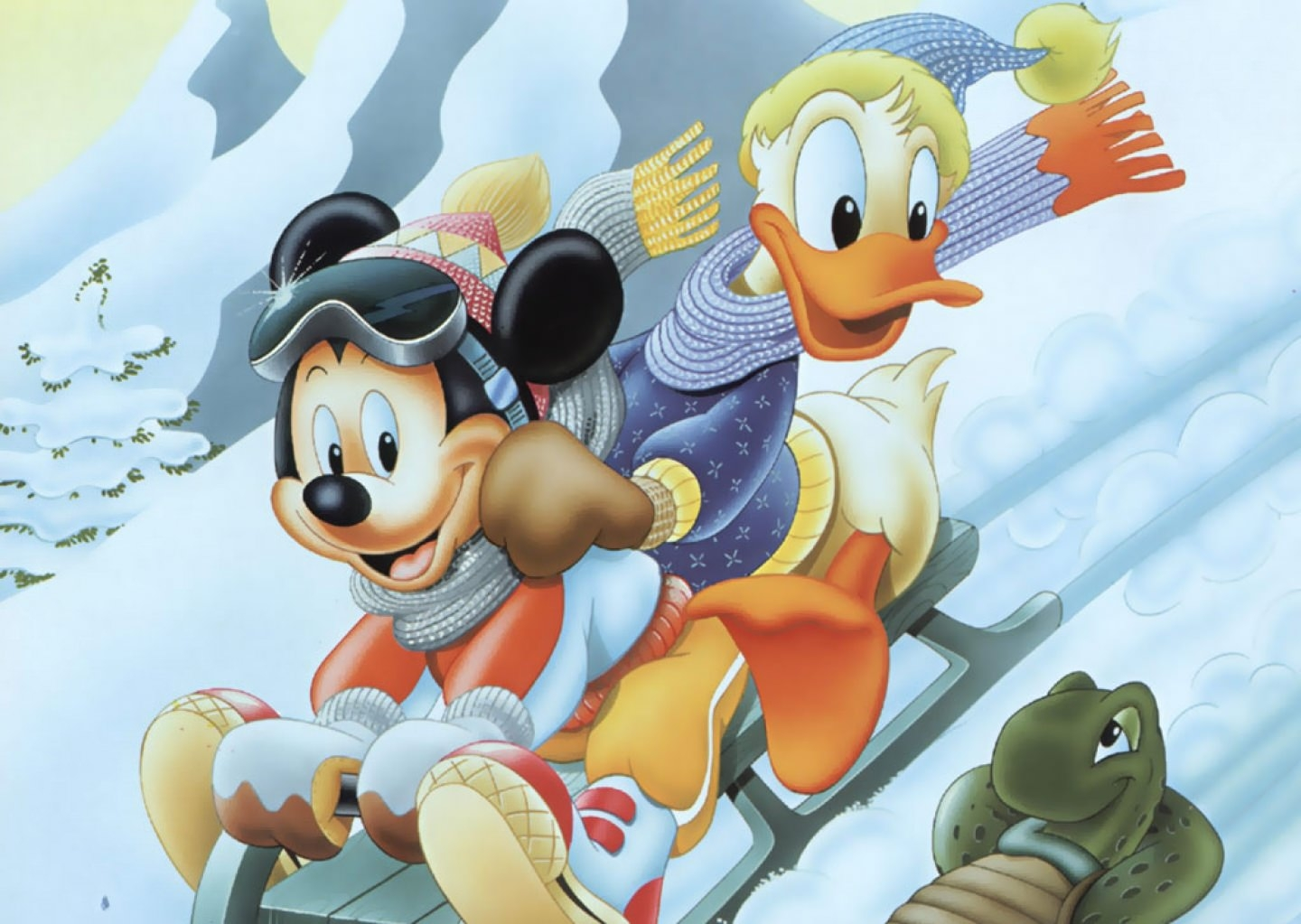 Mickey & Donald Duck Wallpaper
