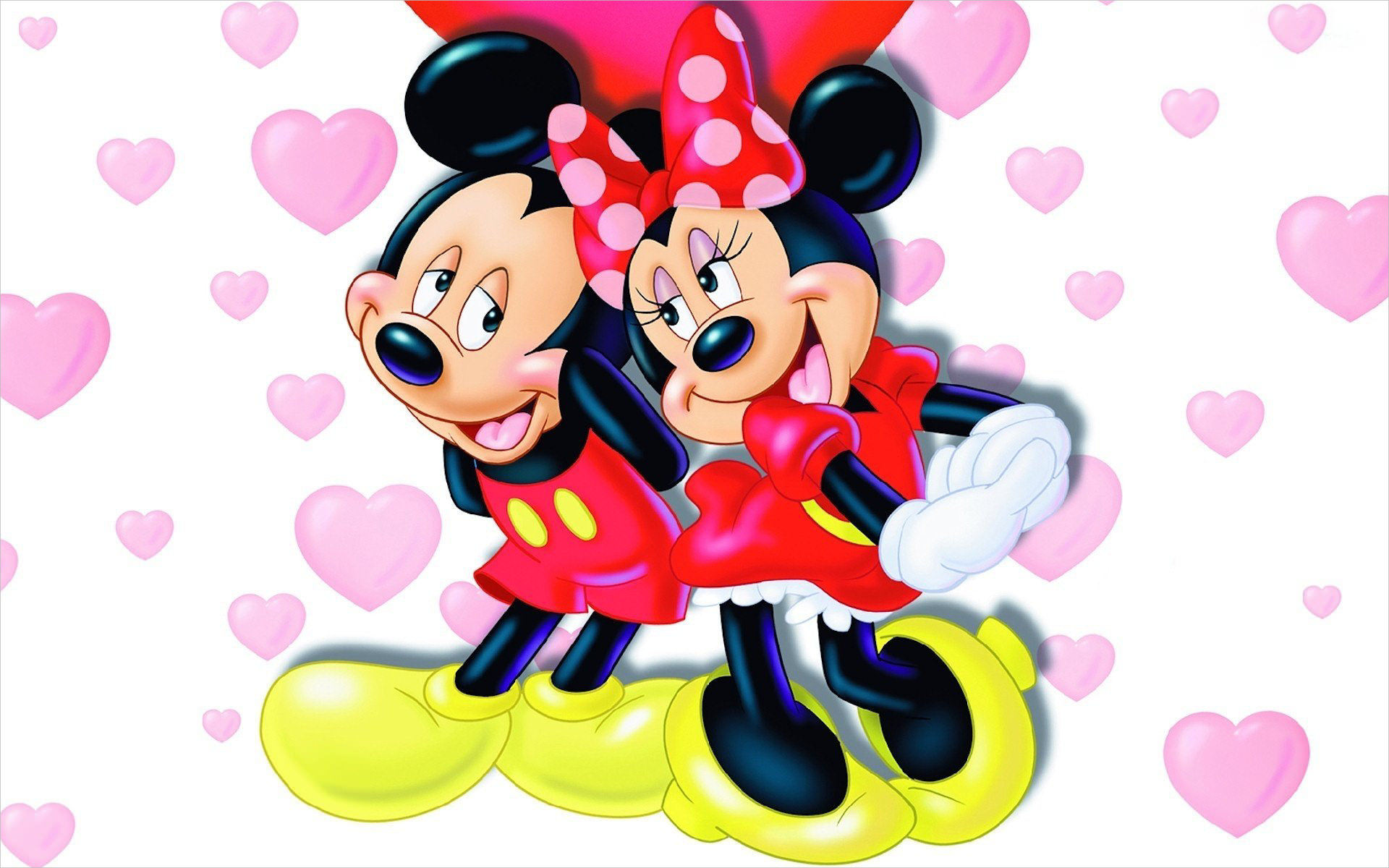 Mickey & Minnie Mouse Wallpaper