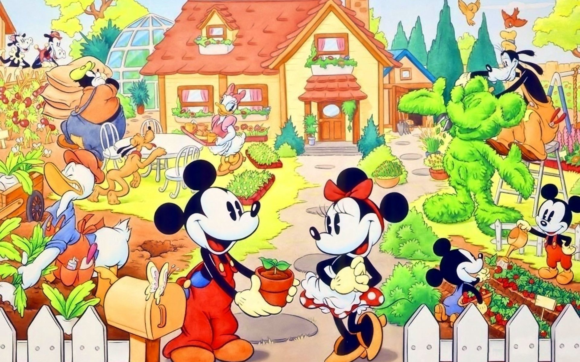 Mickey Mouse Cartoon Wallpaper