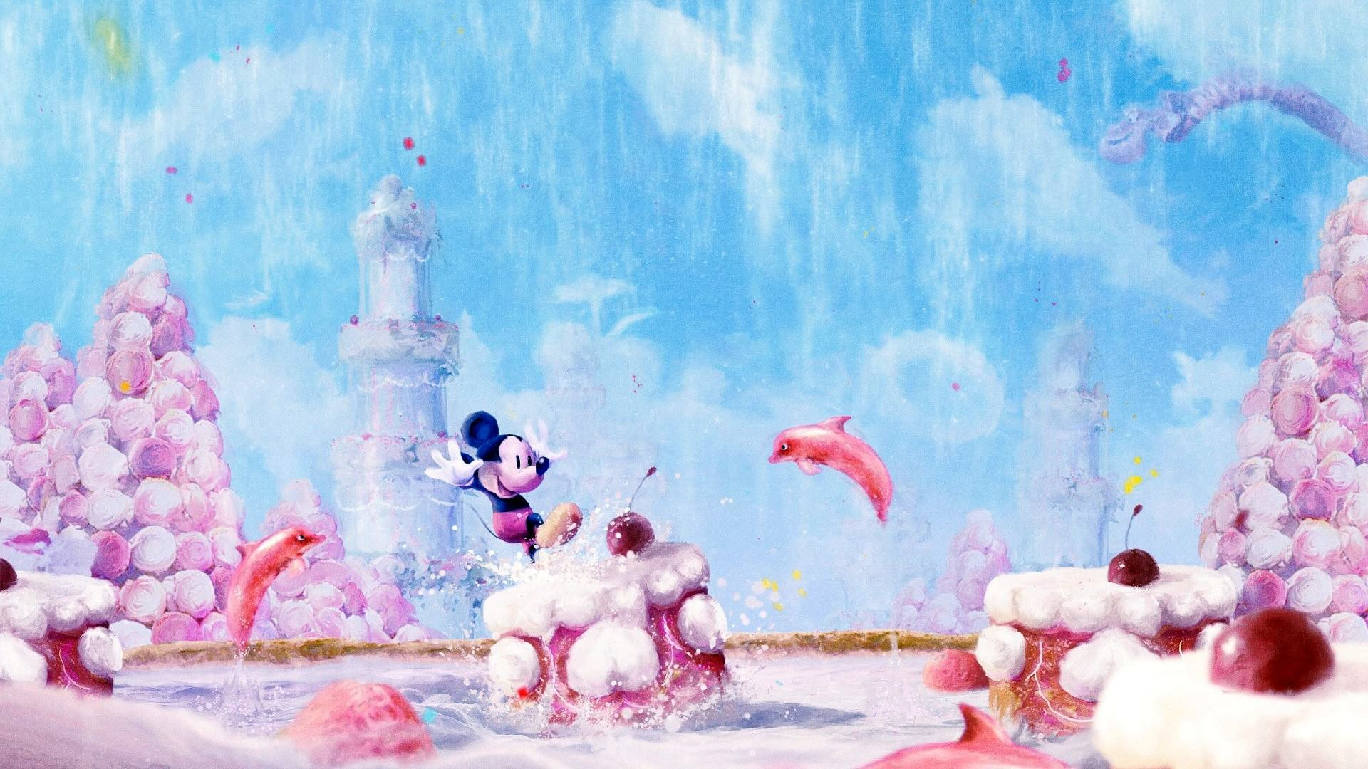 Mickey Mouse Painting Wallpaper