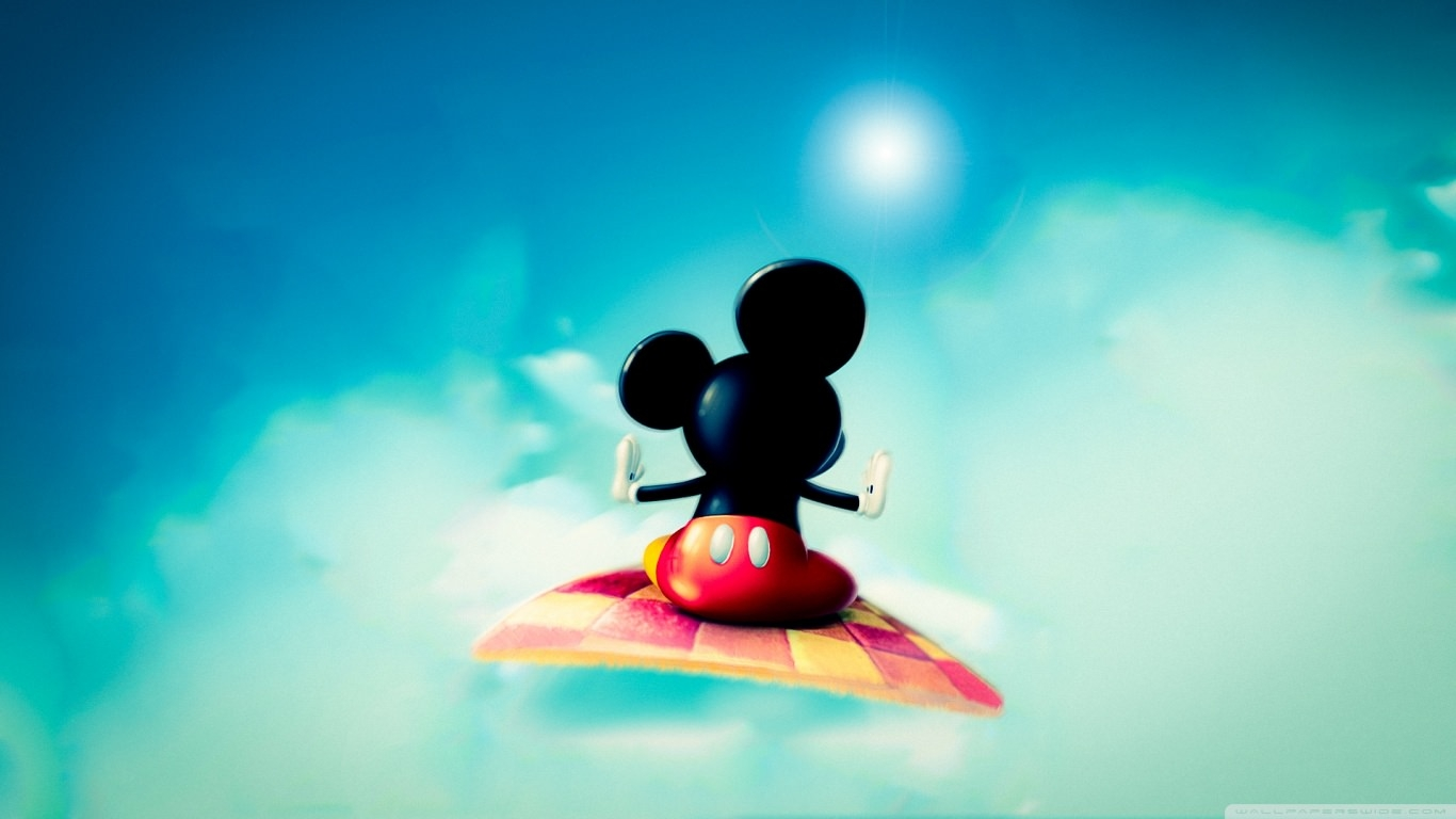 Mickey Mouse on Magic Mat Wallpaper