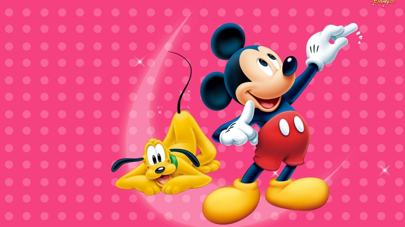 Mickey & Pluto Wallpaper
