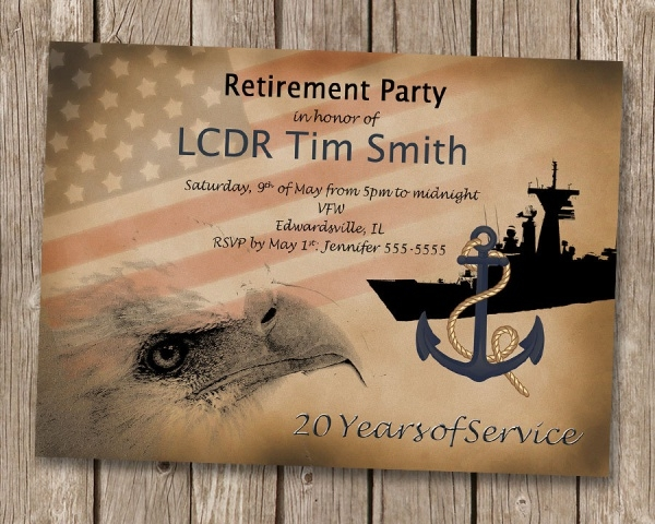 Military Retirement Invitation
