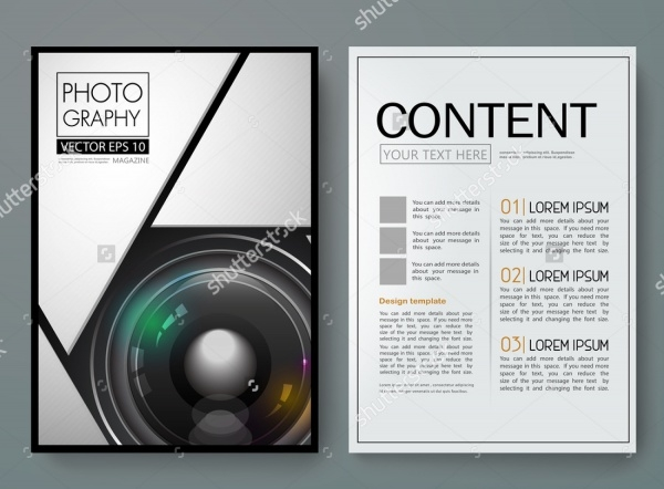 Modern Photography Magazine Flyer Template