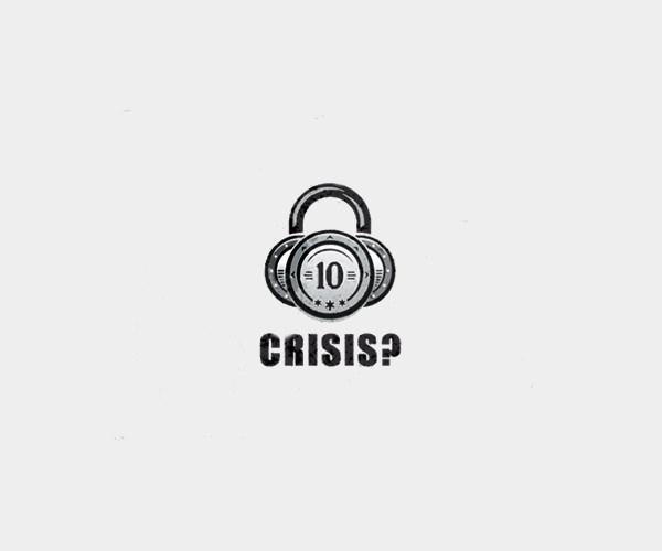 Money Crisis Lock Logo