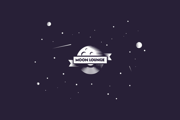Moon Lounge Logo Design