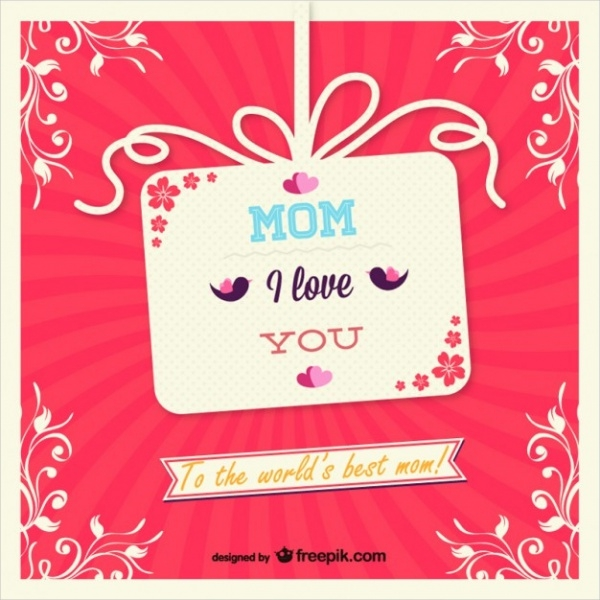 Mother's Day Gift Card Design