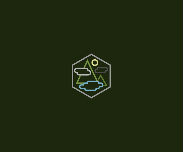 Mountain River Nature Logo