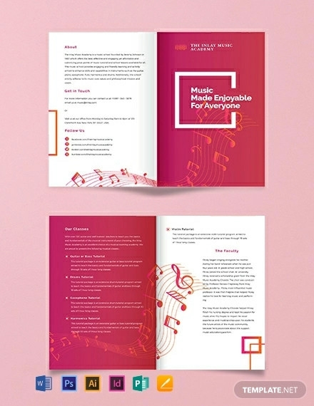 music bi fold brochure template