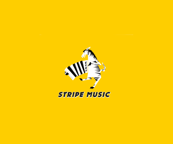 Music Stripes Zebra Logo