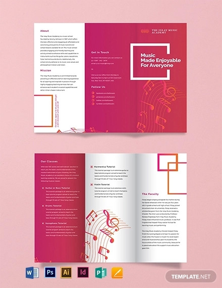 music tri fold brochure template