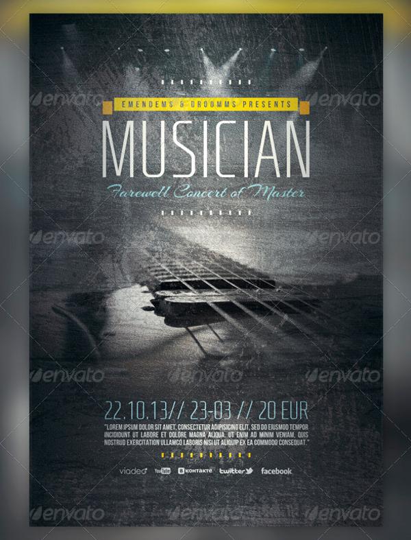 Musician Farewell Flyer Template