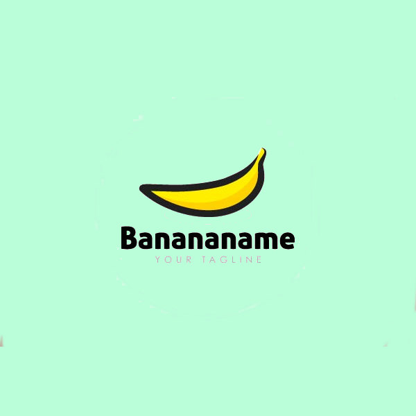 Nature plant Banana Logo