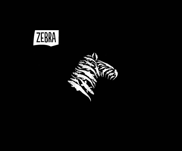 Negative Spacess Zebra logo