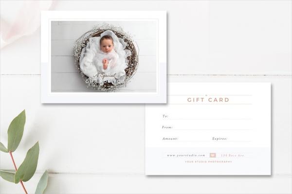 Newborn Photographer Gift Card
