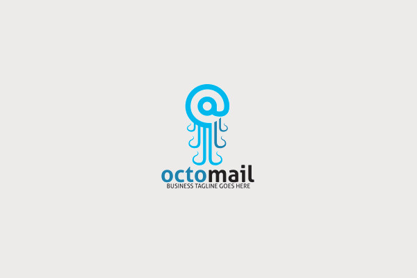 Octo Mail Logo Design
