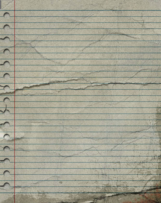 Old Lined Notebook Paper Texture