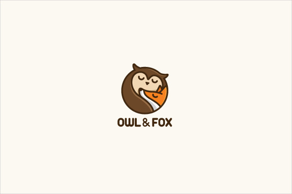 Owl & Fox Baby Logo