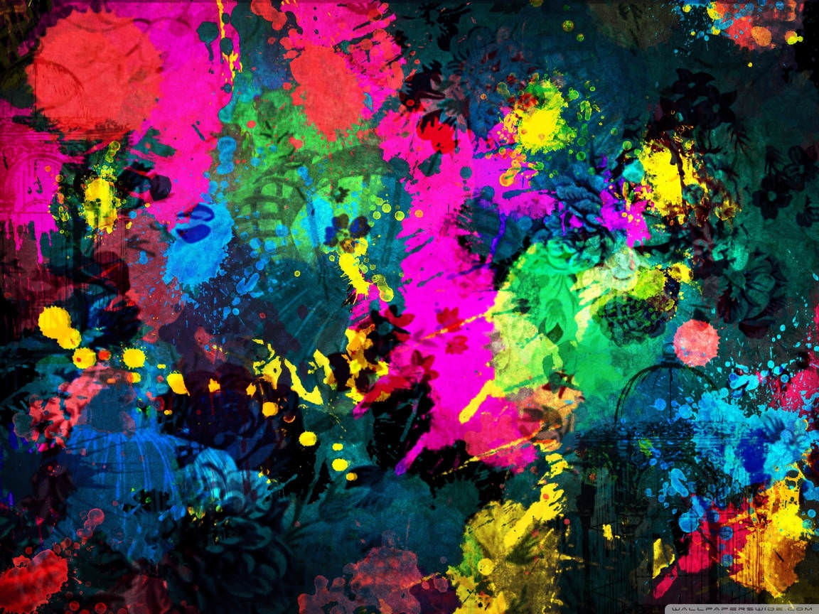 Paint Splatter Colorful Wallpaper