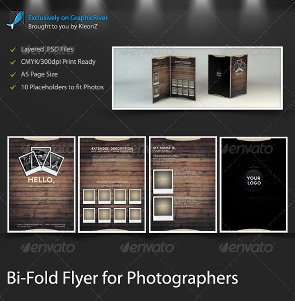 photography bi fold flyer