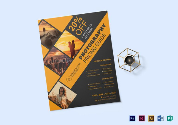 Photography Pricing Flyer Template