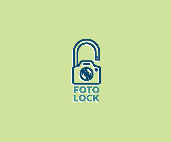 Photography privacy Lock Logo