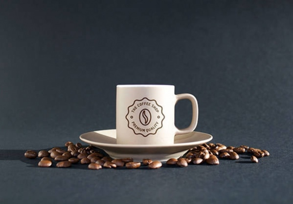 Photorealistic Coffee Cup Mockup PSD