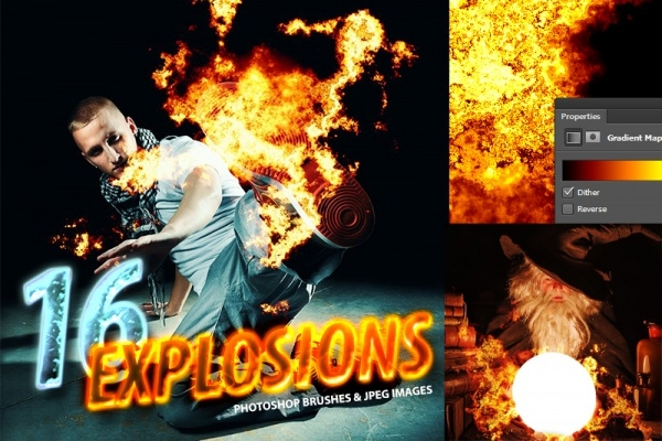 Photoshop Photorealistic Explosion Brushes