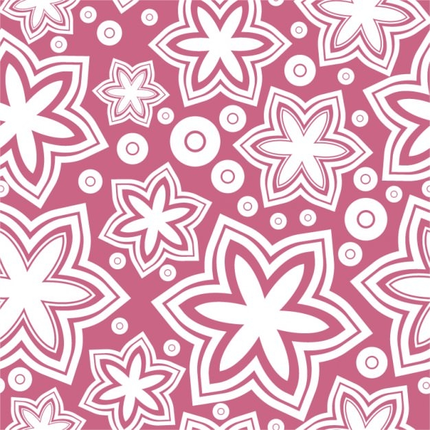 Pink background On Girly Pattern