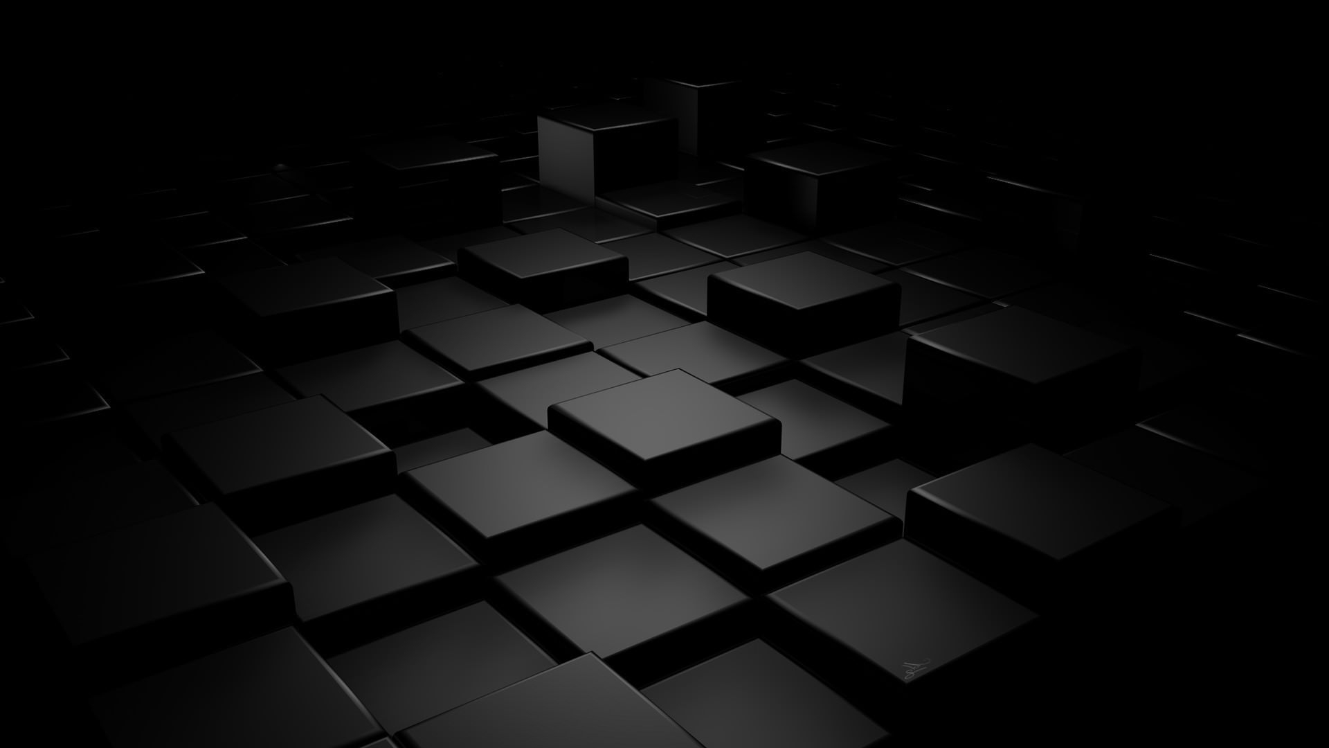 Plain Black Cubes Background