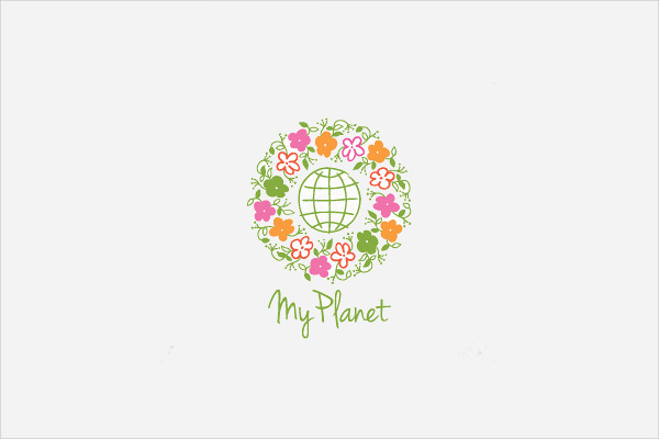 Planet Logo Eco Friendly