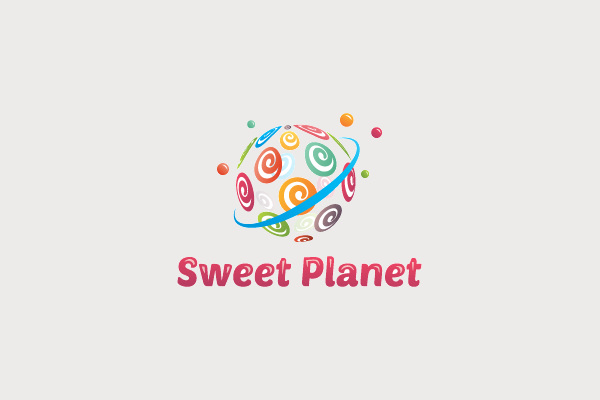 Planet Logo For Sweet Shops