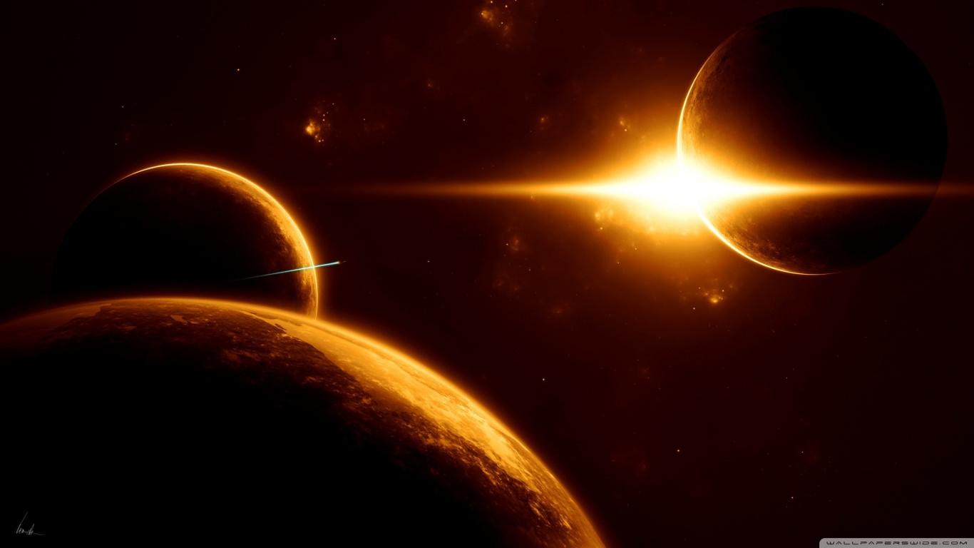 Planets & Sun Wallpaper