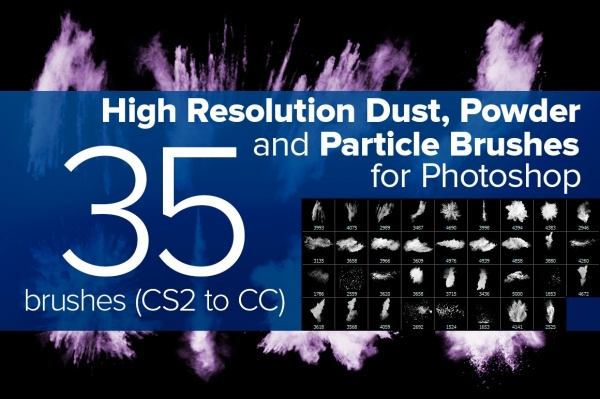 Powder Explosion Photoshop Brushes